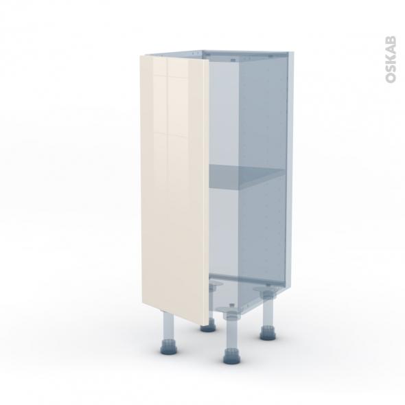 KERIA Ivoire - Kit Rénovation 18 - Meuble bas prof.37  - 1 porte - L30xH70xP37,5