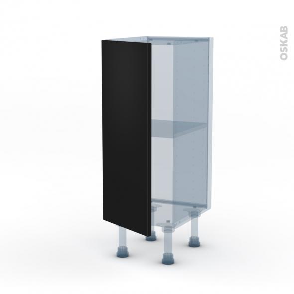 GINKO Noir - Kit Rénovation 18 - Meuble bas prof.37  - 1 porte - L30xH70xP37,5
