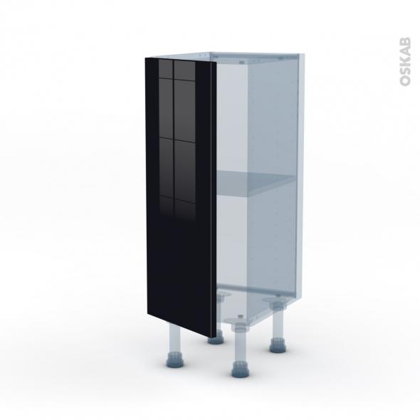 KERIA Noir - Kit Rénovation 18 - Meuble bas prof.37  - 1 porte - L30xH70xP37,5