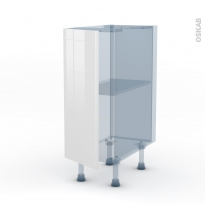 STECIA Blanc - Kit Rénovation 18 - Meuble bas cuisine  - 1 porte - L30xH70xP60