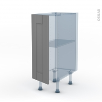 FILIPEN Gris - Kit Rénovation 18 - Meuble bas cuisine  - 1 porte - L30xH70xP60