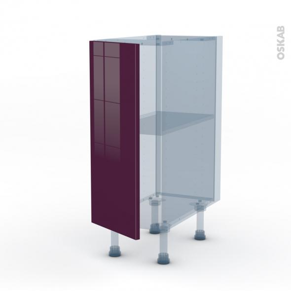 KERIA Aubergine - Kit Rénovation 18 - Meuble bas cuisine  - 1 porte - L30xH70xP60