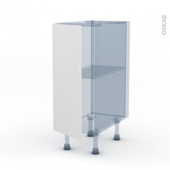 GINKO Blanc - Kit Rénovation 18 - Meuble bas cuisine - 1 porte - L30xH70xP60