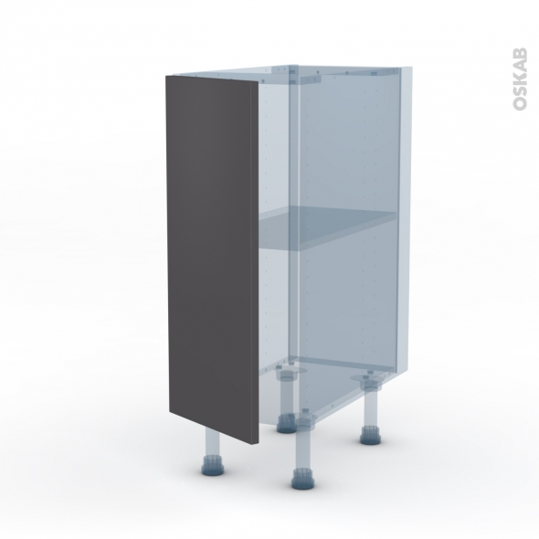 GINKO Gris - Kit Rénovation 18 - Meuble bas cuisine  - 1 porte - L30xH70xP60