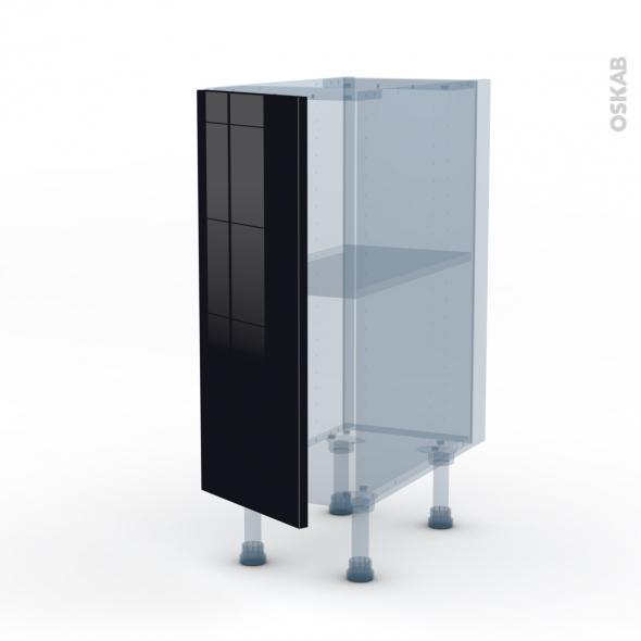 keria noir kit r novation 18 meuble bas cuisine 1 porte l30xh70xp60 oskab. Black Bedroom Furniture Sets. Home Design Ideas