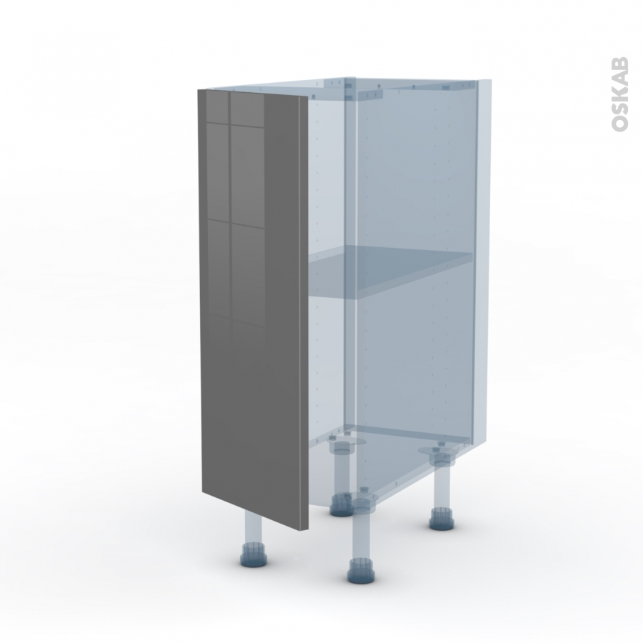 Stecia gris kit r novation 18 meuble bas cuisine 1 porte - Meuble bas cuisine gris ...
