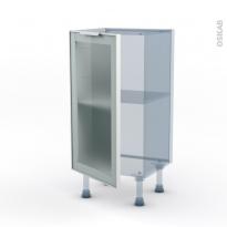 SOKLEO - Façade alu vitrée - Kit Rénovation 18 - Meuble bas prof.37  - 1 porte - L40xH70xP37,5