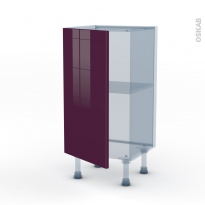 KERIA Aubergine - Kit Rénovation 18 - Meuble bas prof.37  - 1 porte - L40xH70xP37,5