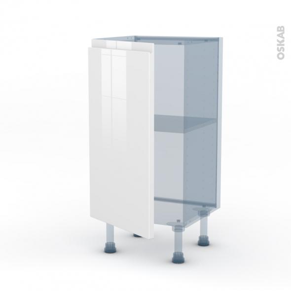IPOMA Blanc - Kit Rénovation 18 - Meuble bas prof.37  - 1 porte - L40xH70xP37,5