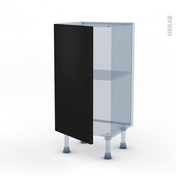 GINKO Noir - Kit Rénovation 18 - Meuble bas prof.37  - 1 porte - L40xH70xP37,5