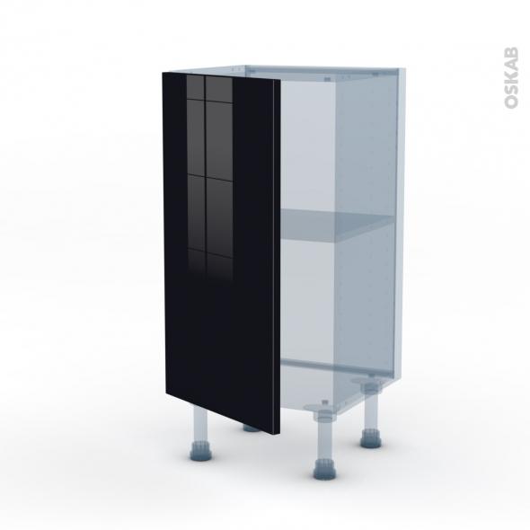 KERIA Noir - Kit Rénovation 18 - Meuble bas prof.37  - 1 porte - L40xH70xP37,5