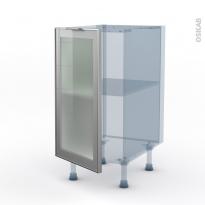 SOKLEO - Façade alu vitrée - Kit Rénovation 18 - Meuble bas cuisine  - 1 porte - L40xH70xP60