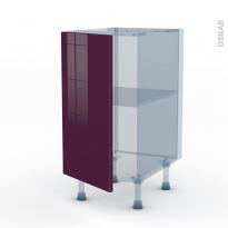 KERIA Aubergine - Kit Rénovation 18 - Meuble bas cuisine  - 1 porte - L40xH70xP60