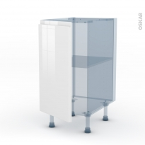 IPOMA Blanc - Kit Rénovation 18 - Meuble bas cuisine  - 1 porte - L40xH70xP60