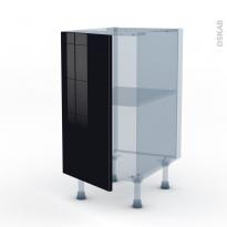 KERIA Noir - Kit Rénovation 18 - Meuble bas cuisine  - 1 porte - L40xH70xP60