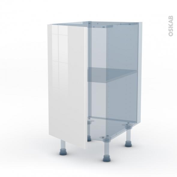 STECIA Blanc - Kit Rénovation 18 - Meuble bas cuisine  - 1 porte - L40xH70xP60
