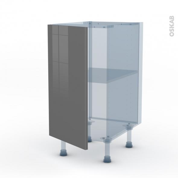 STECIA Gris - Kit Rénovation 18 - Meuble bas cuisine  - 1 porte - L40xH70xP60