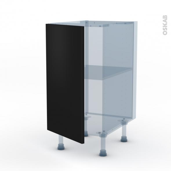 GINKO Noir - Kit Rénovation 18 - Meuble bas cuisine  - 1 porte - L40xH70xP60