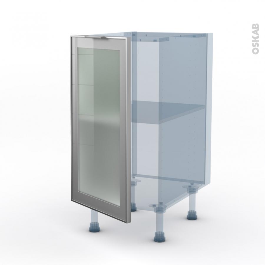sokleo fa ade alu vitr e kit r novation 18 meuble bas cuisine 1 porte l40xh70xp60 oskab. Black Bedroom Furniture Sets. Home Design Ideas