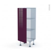 KERIA Aubergine - Kit Rénovation 18 - Meuble bas prof.37  - 1 porte - L40xH92xP37,5
