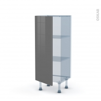 STECIA Gris - Kit Rénovation 18 - Meuble bas prof.37  - 1 porte - L40xH92xP37,5