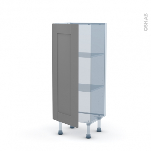 FILIPEN Gris - Kit Rénovation 18 - Meuble bas prof.37  - 1 porte - L40xH92xP37,5