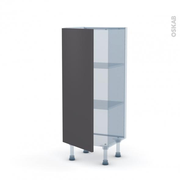 GINKO Gris - Kit Rénovation 18 - Meuble bas prof.37  - 1 porte - L40xH92xP37,5