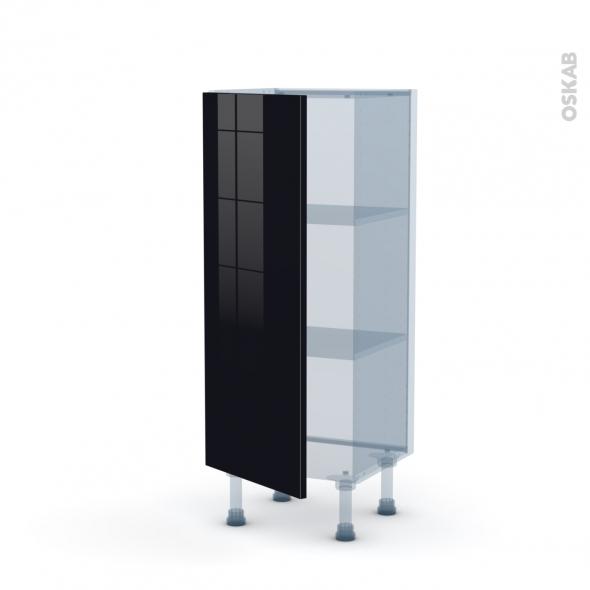 KERIA Noir - Kit Rénovation 18 - Meuble bas prof.37  - 1 porte - L40xH92xP37,5