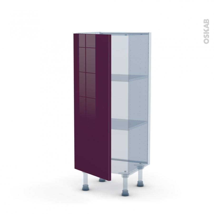 Keria aubergine kit r novation 18 meuble bas 1 for Meuble cuisine aubergine