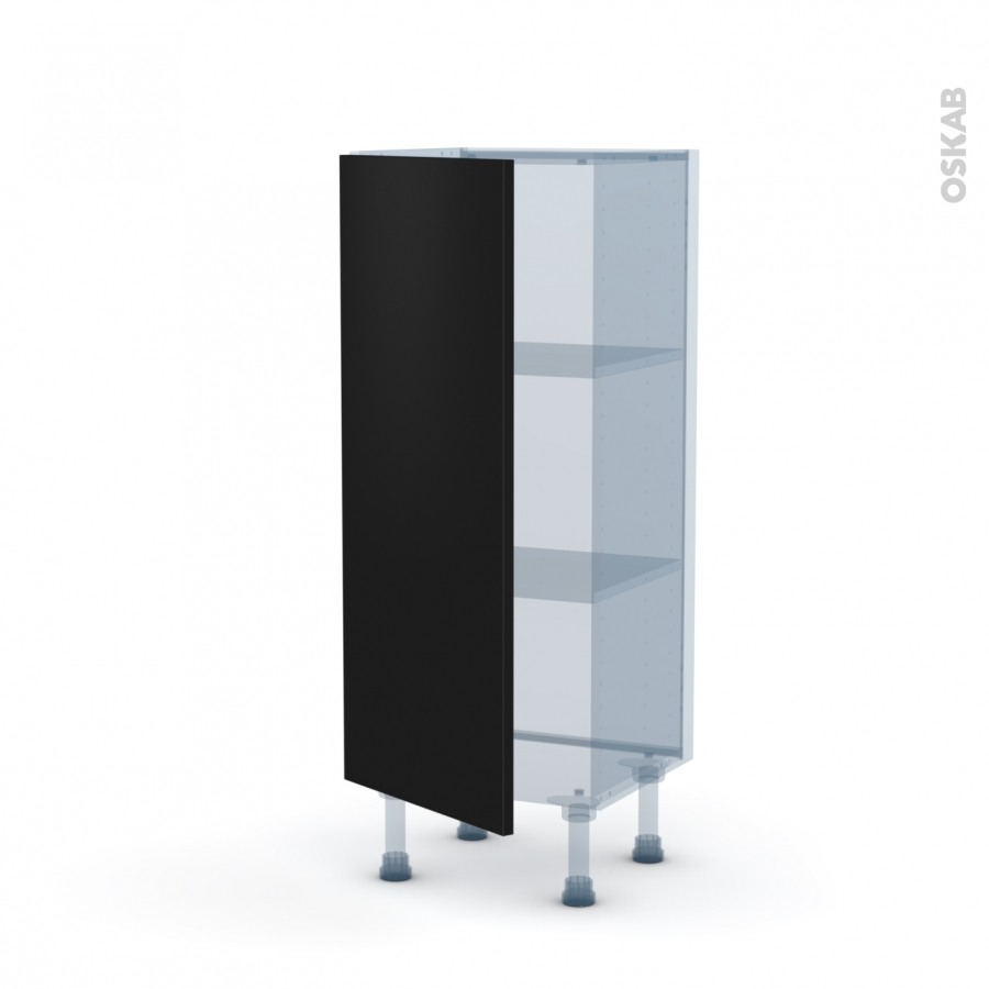 ginko noir kit r novation 18 meuble bas 1 porte l40xh92xp37 5 oskab. Black Bedroom Furniture Sets. Home Design Ideas