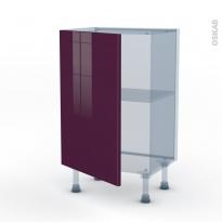 KERIA Aubergine - Kit Rénovation 18 - Meuble bas prof.37  - 1 porte - L50xH70xP37,5