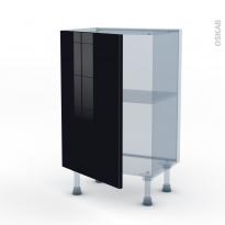 KERIA Noir - Kit Rénovation 18 - Meuble bas prof.37  - 1 porte - L50xH70xP37,5