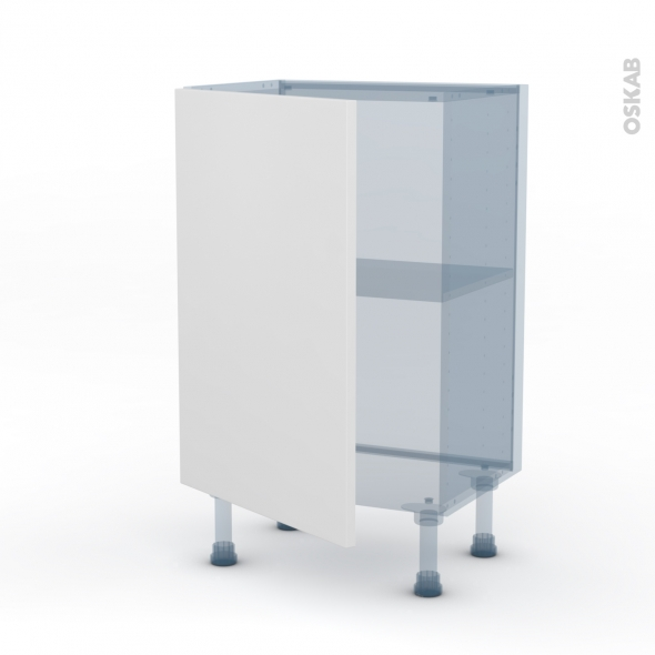 GINKO Blanc - Kit Rénovation 18 - Meuble bas prof.37 - 1 porte - L50xH70xP37,5