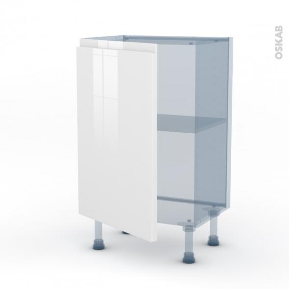 IPOMA Blanc - Kit Rénovation 18 - Meuble bas prof.37  - 1 porte - L50xH70xP37,5