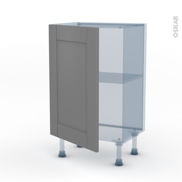 FILIPEN Gris - Kit Rénovation 18 - Meuble bas prof.37  - 1 porte - L50xH70xP37,5