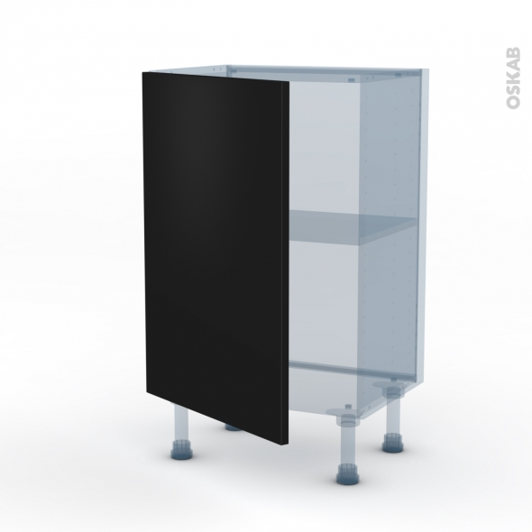 GINKO Noir - Kit Rénovation 18 - Meuble bas prof.37  - 1 porte - L50xH70xP37,5