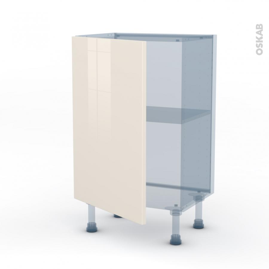 Keria ivoire kit r novation 18 meuble bas 1 porte for Meuble cuisine 50 x 50