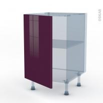 KERIA Aubergine - Kit Rénovation 18 - Meuble bas cuisine  - 1 porte - L50xH70xP60