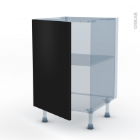 GINKO Noir - Kit Rénovation 18 - Meuble bas cuisine  - 1 porte - L50xH70xP60
