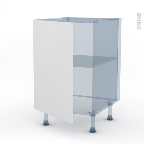 GINKO Blanc - Kit Rénovation 18 - Meuble bas cuisine - 1 porte - L50xH70xP60