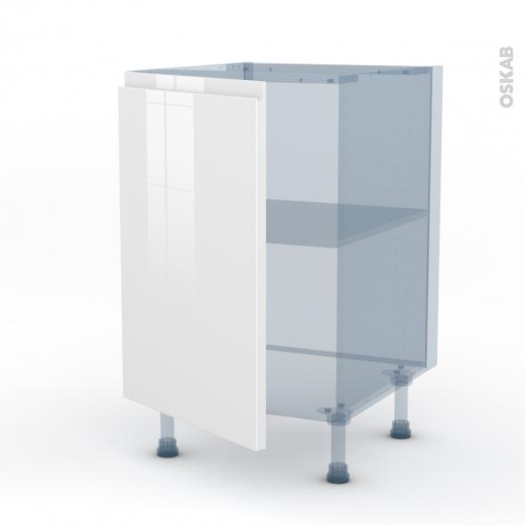 Ipoma blanc kit r novation 18 meuble bas cuisine 1 porte for Porte 1 3 2 3