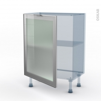 SOKLEO - Façade alu vitrée - Kit Rénovation 18 - Meuble bas prof.37  - 1 porte - L60xH70xP37,5
