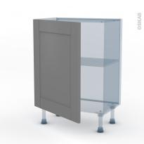 FILIPEN Gris - Kit Rénovation 18 - Meuble bas prof.37  - 1 porte - L60xH70xP37,5