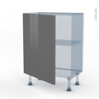 STECIA Gris - Kit Rénovation 18 - Meuble bas prof.37  - 1 porte - L60xH70xP37,5