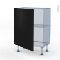 GINKO Noir - Kit Rénovation 18 - Meuble bas prof.37  - 1 porte - L60xH70xP37,5