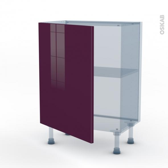 KERIA Aubergine - Kit Rénovation 18 - Meuble bas prof.37  - 1 porte - L60xH70xP37,5