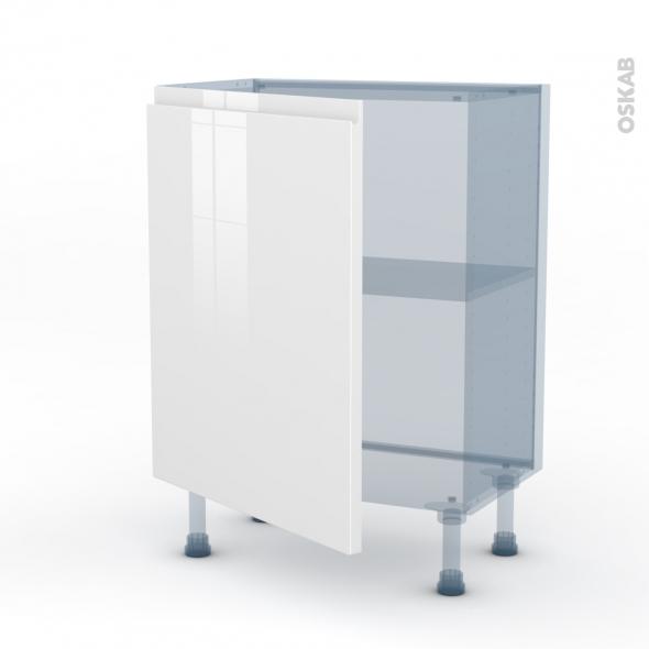 IPOMA Blanc - Kit Rénovation 18 - Meuble bas prof.37  - 1 porte - L60xH70xP37,5