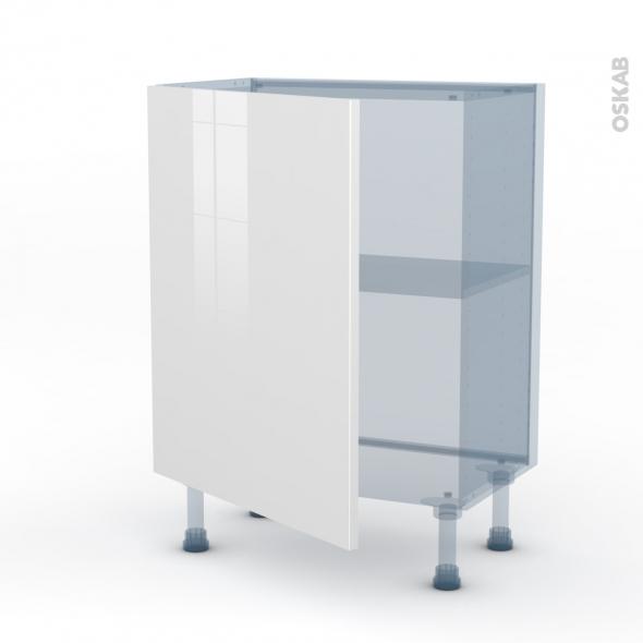 STECIA Blanc - Kit Rénovation 18 - Meuble bas prof.37  - 1 porte - L60xH70xP37,5