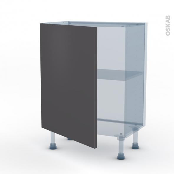 GINKO Gris - Kit Rénovation 18 - Meuble bas prof.37  - 1 porte - L60xH70xP37,5