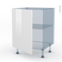STECIA Blanc - Kit Rénovation 18 - Meuble bas cuisine  - 1 porte - L60xH70xP60